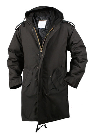Black M-51 Fishtail Parka - Full View