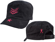 Womens Fatigue Caps for Breast Cancer Awareness