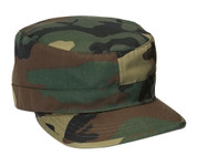 Woodland Camo Adjustable Back Fatigue Cap