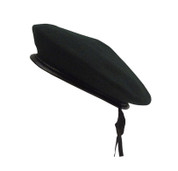 Black Monty Wool Berets - View