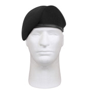 G.I. Type Inspection Ready Black Beret - Front View