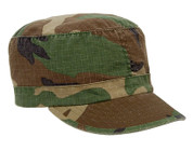 Womens Vintage Camo Fatigue Cap - Woodland Camo