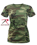 Rothco Women's Longer Woodland Camo T Shirt