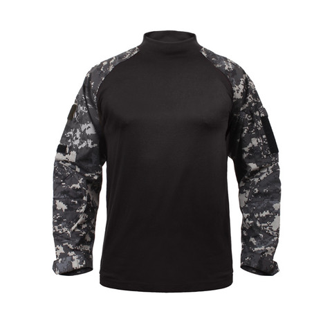 Subdued Urban Digital Camo Combat Shirt - Front View