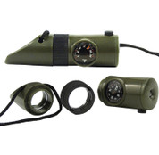 6 in 1 Led Survival Whistle Compass Combo