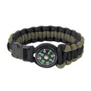 Paracord Compass Bracelet - Olive Drab/Black