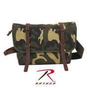Vintage Camo Canvas Explorer Shoulder Bag - Rothco View