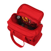 Red Mechanics Tool Bag w/ U Shaped Zipper - Open View