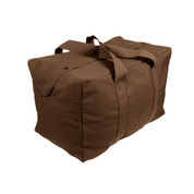 Earth Brown Canvas Parachute Cargo Bag - View