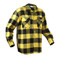 Extra Heavyweight Buffalo Yellow Plaid Flannel Shirts - Right Side View