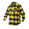Extra Heavyweight Buffalo Yellow Plaid Flannel Shirts - Left Side View