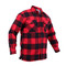 Extra Heavyweight Buffalo Red Plaid Sherpa Lined Flannel Shirt - Right Angle View
