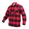 Extra Heavyweight Buffalo Red Plaid Sherpa Lined Flannel Shirt - Left Angle View