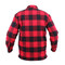 Extra Heavyweight Buffalo Red Plaid Sherpa Lined Flannel Shirt - Back View