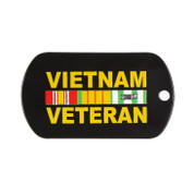 Vietnam Veteran Dog Tag w/Chain Set