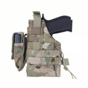 MultiCam MOLLE Modular Ambidextrous Holster - Left Side View