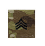 MultiCam Embroidered Rank Insignia - Sergeant