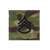 MultiCam Embroidered Rank Insignia - Staff Sergeant Patch