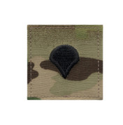 MultiCam Embroidered Spec-4 Rank Insignia Patch