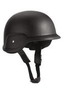 Military Style ABS Plastic Helmet - Black