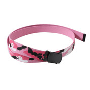 Pink Camo Team Web Belts / Reversible
