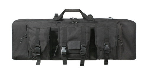 """Rothco 36"""" Black Tactical Rifle Case - Front View"""
