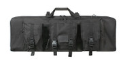 "Rothco 36"" Black Tactical Rifle Case - Front View"