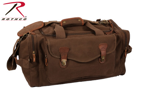 Classic Brown Canvas Weekenders Bag - Rothco View