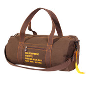 Military Style Brown Canvas Equipment Bag  - View