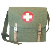 German Medic Bag - Salt & Pepper Olive