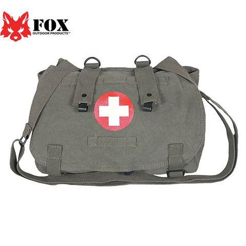 Vintage Olive Drab Euro Retro Medic Bag - View