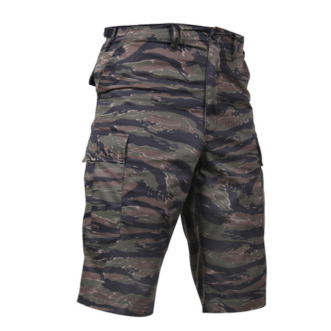 Tiger Stripe Camo Long Length BDU Short - Right Angle View