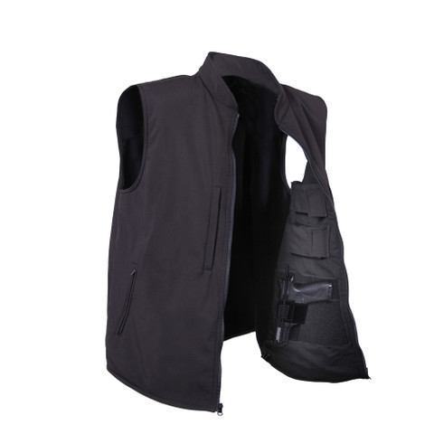 Rothco Concealed Carry Soft Shell Vest - Open Front View