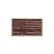 Subdued Flag / Rifle Morale Patch - Hook Backing