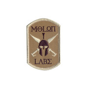 Rothco Molon Labe Morale Patch - Hook Backing