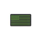 U.S. Flag PVC Patch w/ Hook Back - Black/Olive