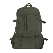 Retro Cantabrian Excursion Rucksack - Olive Green
