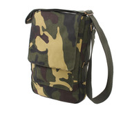 Vintage Canvas Camo Military Tech Bag - Side View
