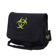Bio-Hazard Vintage Canvas Messenger Bag - Black