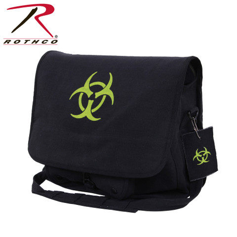 Bio-Hazard Vintage Canvas Messenger Bag - Rothco View