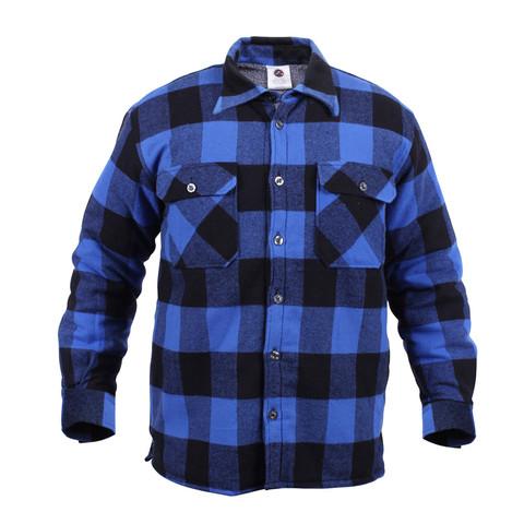 Shop buffalo plaid sherpa lined flannel shirts fatigues for Heavy plaid flannel shirt