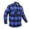 Extra Heavy Buffalo Blue Plaid Sherpa Lined Flannel Shirt - Right Angle View