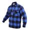 Extra Heavy Buffalo Blue Plaid Sherpa Lined Flannel Shirt - Left Angle View
