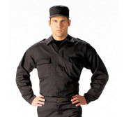 Tactical Black BDU Uniform Shirt