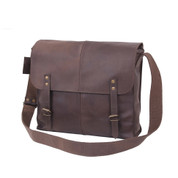 Rothco Brown Leather Medic Bag - Front View