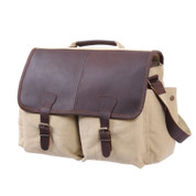 Rothco Vintage Military Officers Leather Messenger Bags