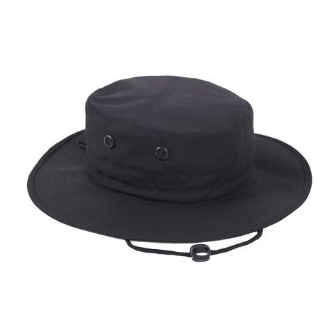 Adjustable Black Outdoor Boonie Hat - Fatigues Army Navy Gear