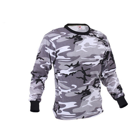 Rothco City Camo Long Sleeve T Shirt - Right Side View