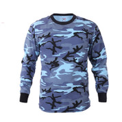 Rothco Sky Blue Camo Long Sleeve T Shirt - View