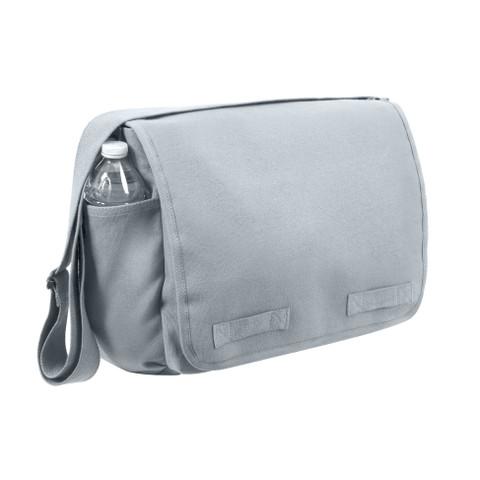 Rothco Grey Canvas Messenger Bag - View